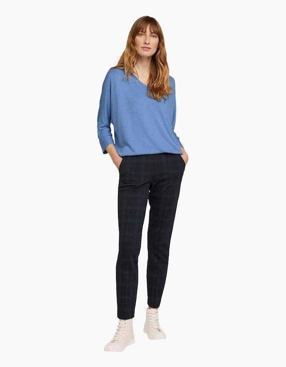 Tom Tailor Feinstrick-Shirt in Melange-Optik | ADLER Mode Onlineshop
