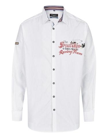 Produktbild zu <strong>Freizeithemd unifarben mit großem Brustprint</strong>REGULAR FIT von Bexleys man