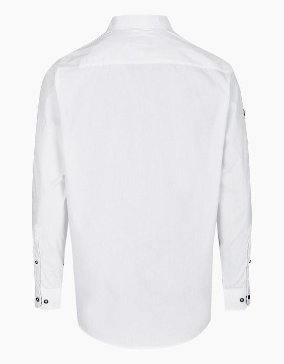 Bexleys man Freizeithemd unifarben mit großem Brustprint, REGULAR FIT | ADLER Mode Onlineshop