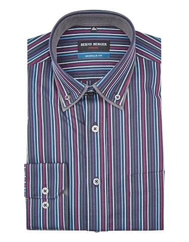 Produktbild zu <strong>Doppelkragenhemd im Streifendessin</strong>REGULAR FIT von Bernd Berger