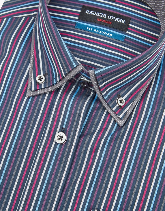 Bernd Berger Doppelkragenhemd im Streifendessin, REGULAR FIT | ADLER Mode Onlineshop