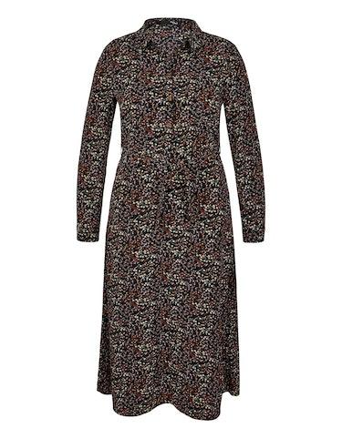Produktbild zu Hemdblusen-Kleid aus Polyester-Crepe mit Allover-Print von MY OWN