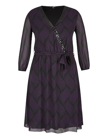 Produktbild zu Chiffon-Kleid mit Allover-Druck und Pailletten von MY OWN