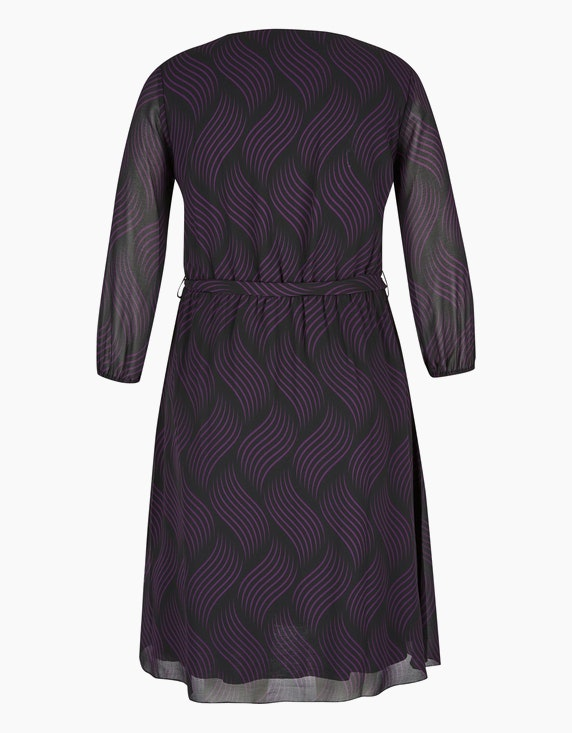 MY OWN Chiffon-Kleid mit Allover-Druck und Pailletten   ADLER Mode Onlineshop
