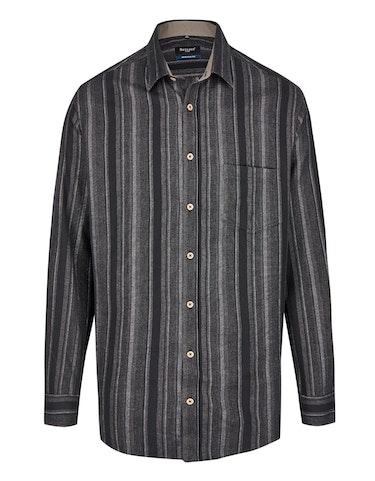 Produktbild zu <strong>Flanellhemd im Streifen-Dessin</strong>REGULAR FIT von Bexleys man