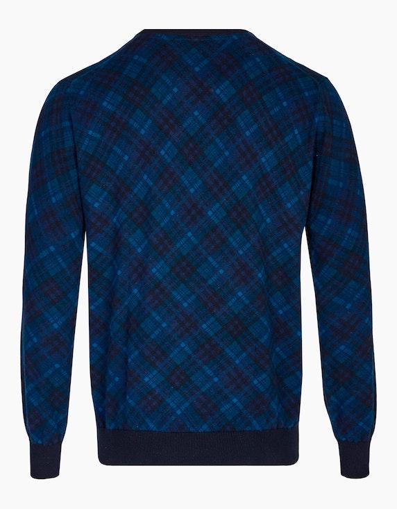 Bexleys man Pullover in modischem Karomuster   ADLER Mode Onlineshop
