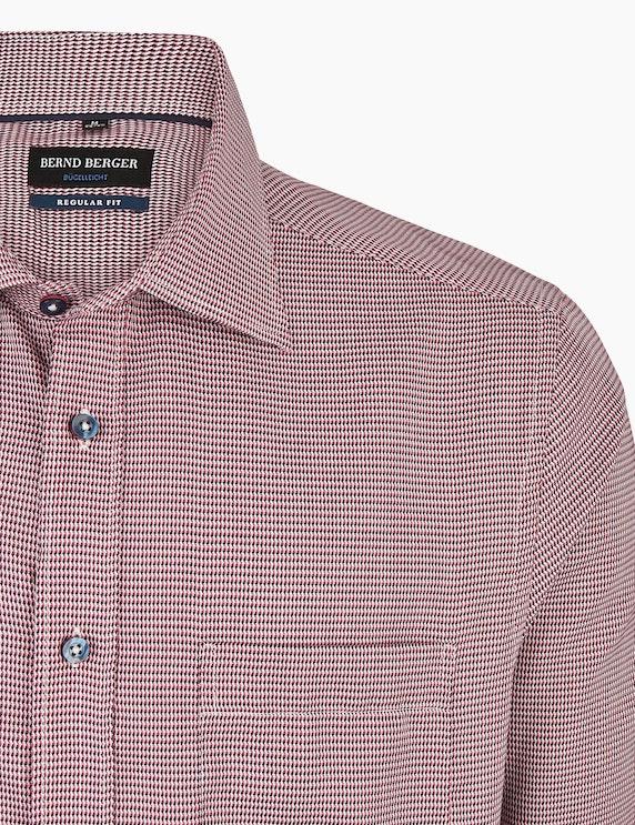 Bernd Berger Gemustertes Dresshemd in bügelleichter Qualität, REGULAR FIT | ADLER Mode Onlineshop