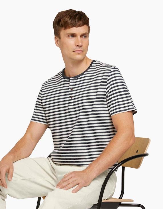 Tom Tailor Gestreiftes T-Shirt mit Bio-Baumwolle | ADLER Mode Onlineshop