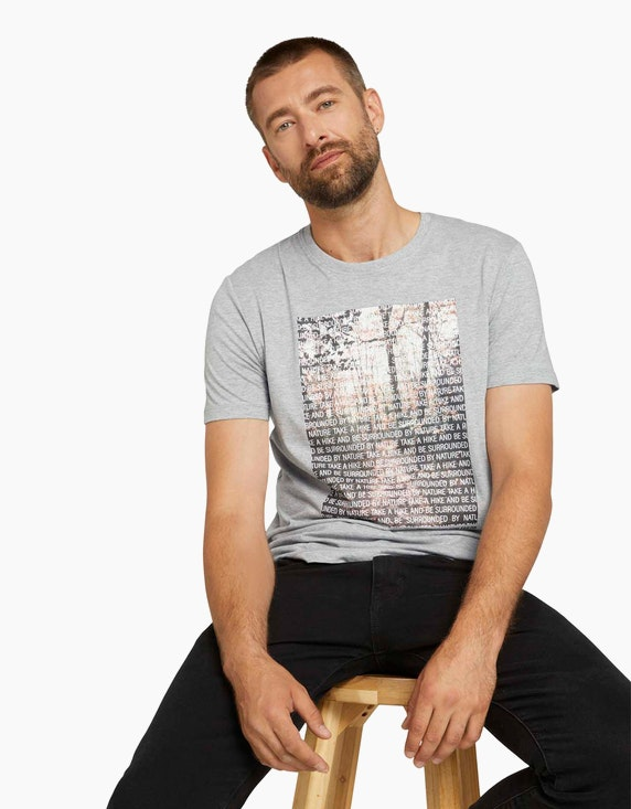 Tom Tailor T-Shirt mit Fotoprint aus Bio-Baumwolle | ADLER Mode Onlineshop