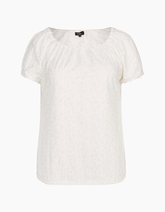 Bexleys woman Schlupfbluse im Carmen-Stil in Weiß   ADLER Mode Onlineshop