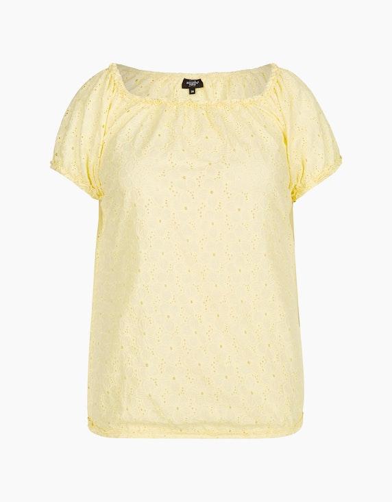 Bexleys woman Schlupfbluse im Carmen-Stil in Gelb   ADLER Mode Onlineshop