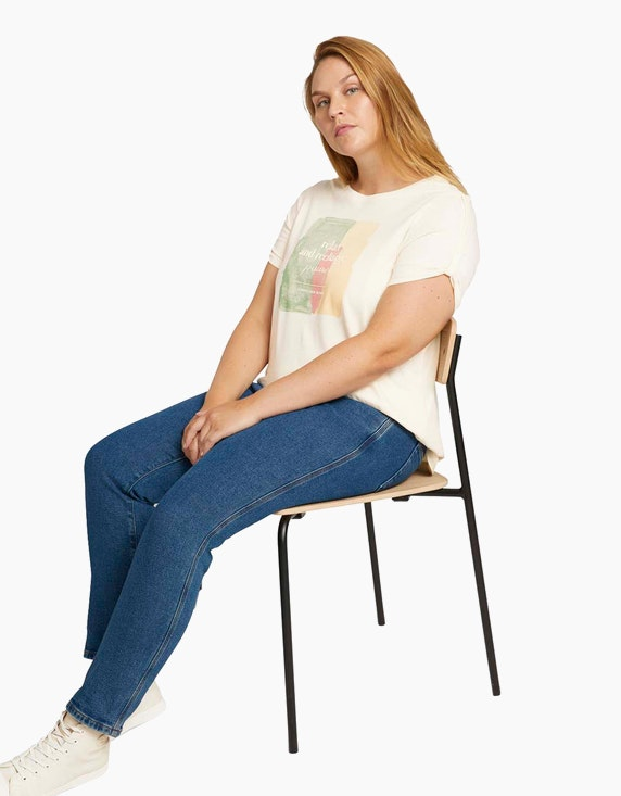 Tom Tailor Print T-Shirt aus Bio-Baumwolle | ADLER Mode Onlineshop
