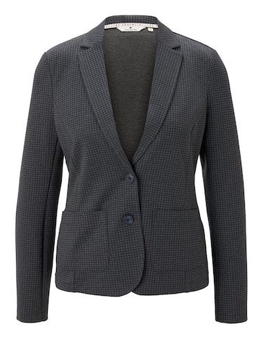Produktbild zu Jersey-Blazer mit Hahnentritt-Muster und Revers-Kragen von Tom Tailor