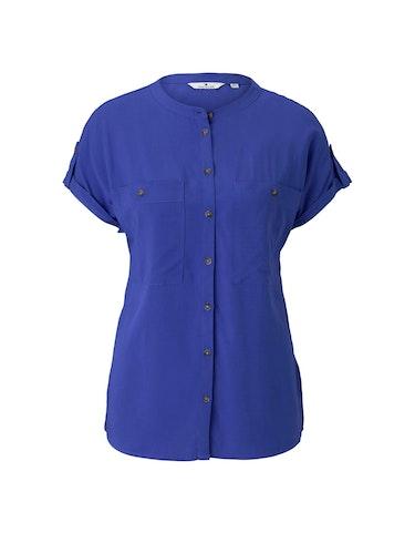 Produktbild zu Kurzarm-Hemdbluse mit Taschen von Tom Tailor