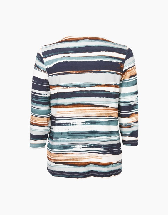 VIA APPIA DUE Shirt mit Allover-Muster | ADLER Mode Onlineshop