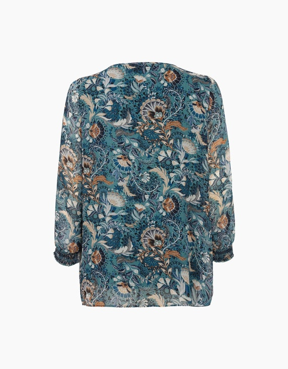 VIA APPIA DUE Bluse mit Allover-Muster | ADLER Mode Onlineshop