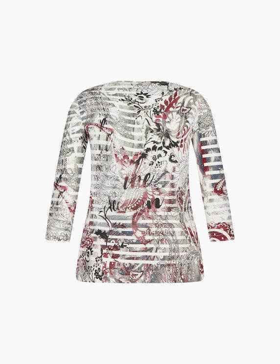 Bexleys woman Shirt mit Streifen- und Blumenmuster | ADLER Mode Onlineshop