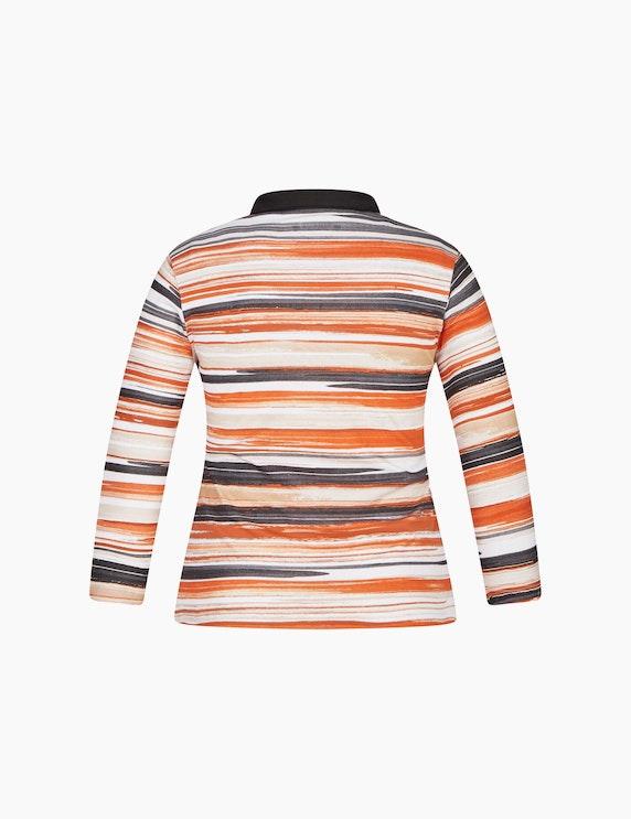 Malva Poloshirt mit Streifenmuster und Ziersteinen | ADLER Mode Onlineshop