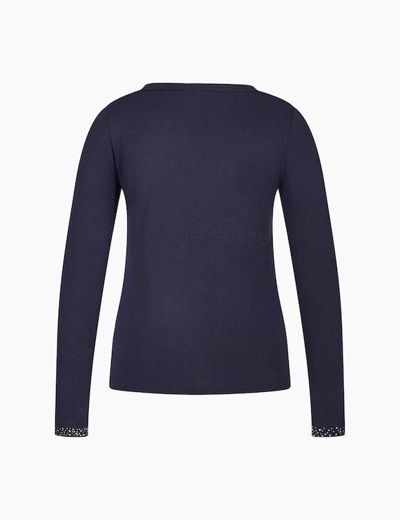 Bexleys woman Langarmshirt mit Ziersteinen | ADLER Mode Onlineshop