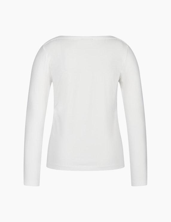 Bexleys woman Langarmshirt mit Frontprint und Ziersteinen | ADLER Mode Onlineshop