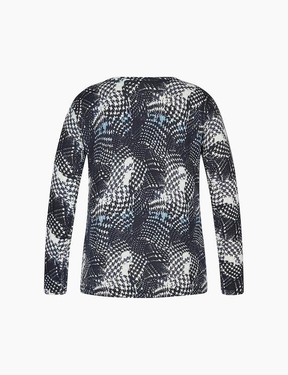 Bexleys woman Pullover mit Alloverprint und Galonstreifen am Ärmel   ADLER Mode Onlineshop