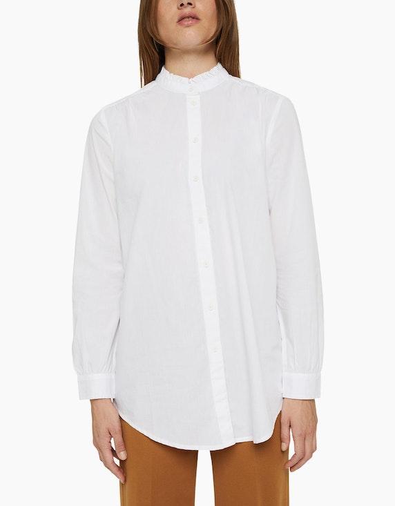 Esprit Long-Bluse mit gerüschtem Kragen   ADLER Mode Onlineshop