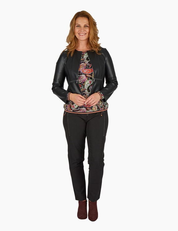 Steilmann Woman Kurzjacke in Lederoptik | ADLER Mode Onlineshop