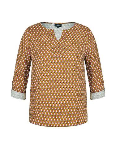 Produktbild zu Bluse mit grafischem Druck und Tunika-Ausschnitt von Bexleys woman