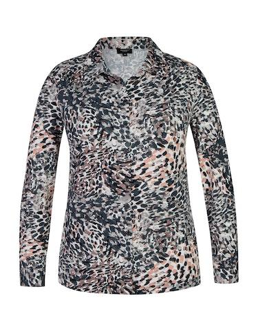 Produktbild zu Jerseybluse mit Allover-Print und Hemdkragen von Bexleys woman