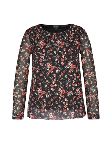 Produktbild zu Plissee-Bluse aus Chiffon von Bexleys woman