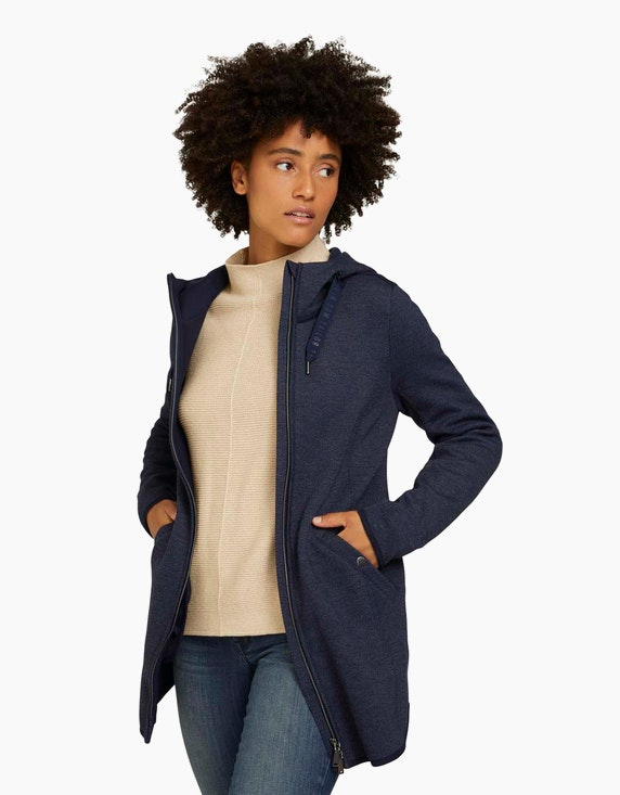 Tom Tailor Long-Jacke aus weichem Fleece   ADLER Mode Onlineshop