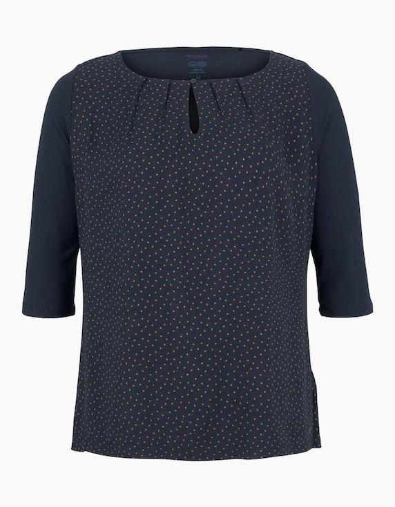 Tom Tailor Curvy - Gepunktete Bluse mit LENZING(TM) ECOVERO™   ADLER Mode Onlineshop