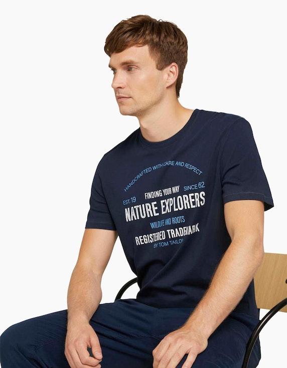 Tom Tailor Print T-Shirt mit Bio-Baumwolle | ADLER Mode Onlineshop