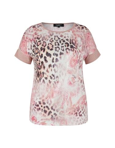 Produktbild zu T-Shirt mit Leo-Print von Bexleys woman