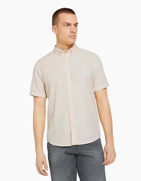 Tom Tailor Strukturiertes Kurzarmhemd | ADLER Mode Onlineshop