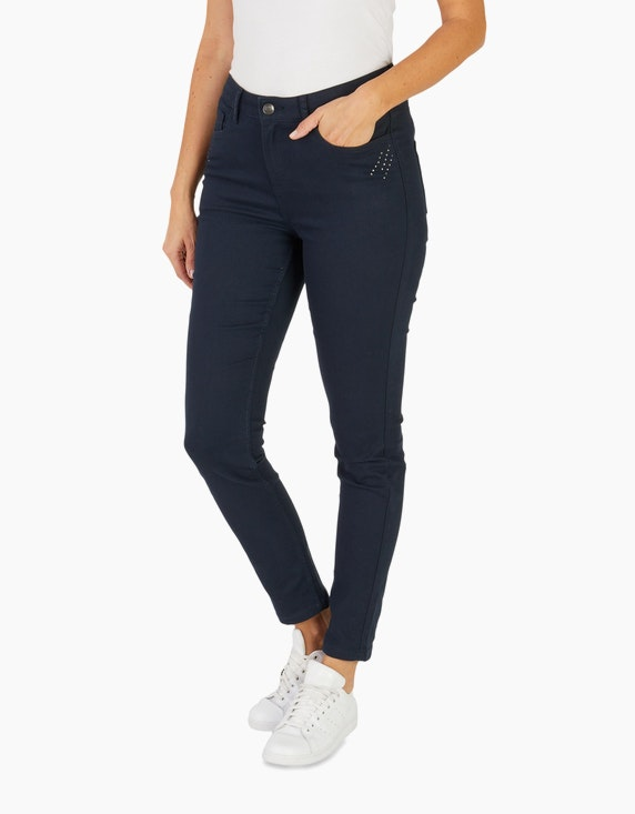 Bexleys woman Jeanshose mit Ziersteinchen | ADLER Mode Onlineshop