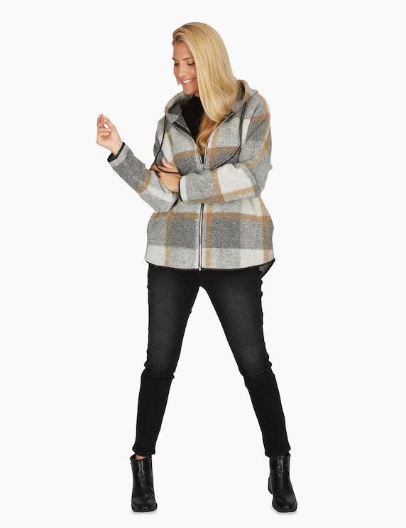 Adler Collection Jacke mit Karo-Muster und Wollanteil | ADLER Mode Onlineshop