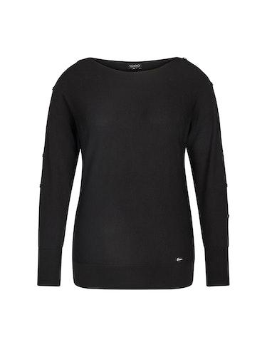 Produktbild zu langer Feinstrick-Pullover mit Zierknöpfen von Viventy