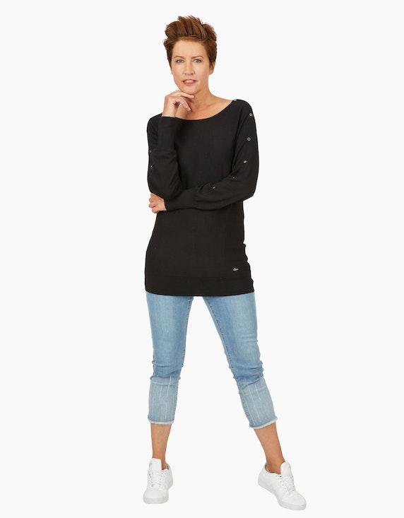 Viventy langer Feinstrick-Pullover mit Zierknöpfen   ADLER Mode Onlineshop
