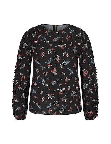 Produktbild zu Bluse mit floralem Muster und Rüschendetails von MY OWN