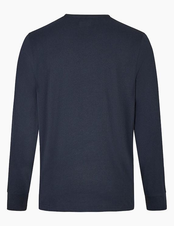 Bexleys man Langarmshirt mit Brustprint | ADLER Mode Onlineshop