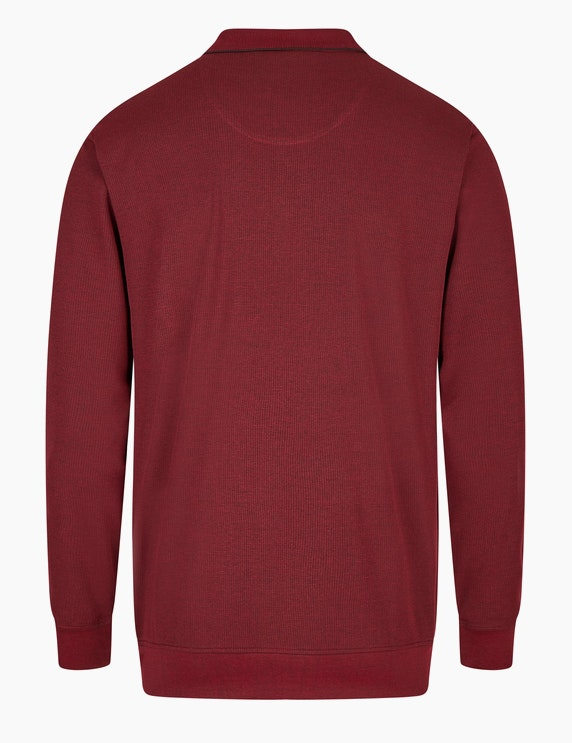 Bexleys man Langarm-Poloshirt in Twotone Jacquard-Struktur | ADLER Mode Onlineshop