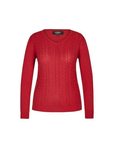 Produktbild zu Pullover mit Zopfmuster von Bexleys woman