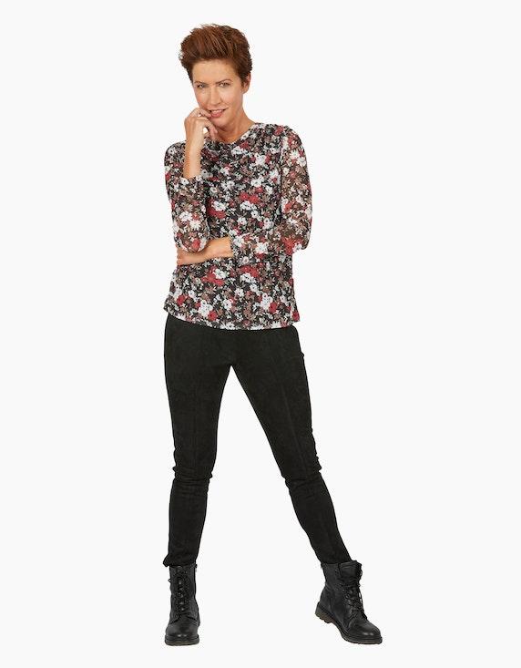 Viventy Mesh-Shirt mit floralem Muster   ADLER Mode Onlineshop