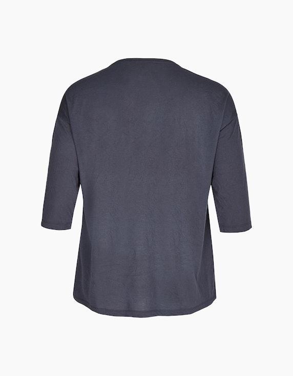 Thea Shirt mit Frontprint und Materialmix | ADLER Mode Onlineshop