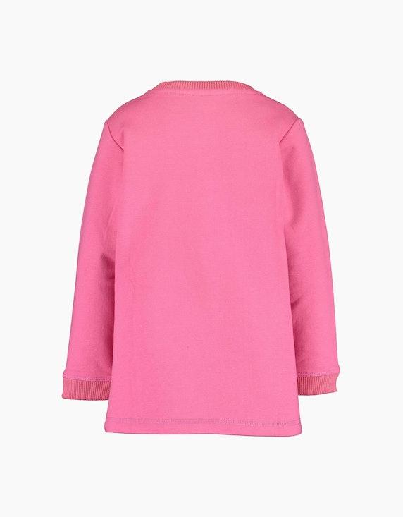 Blue Seven Mini Girls Sweatshirt mit Herz und Glitzer-Rippkanten | ADLER Mode Onlineshop