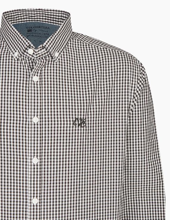 Via Cortesa Kariertes Hemd mit Button Down-Kragen | ADLER Mode Onlineshop