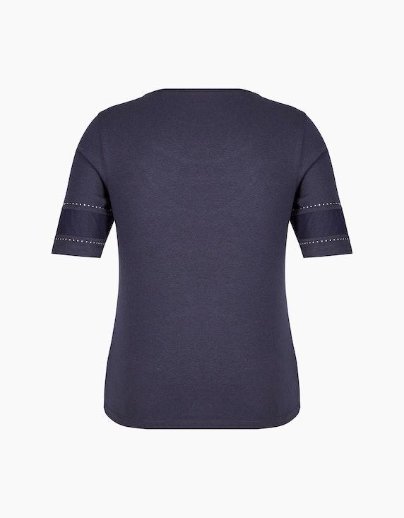 Malva Shirt mit Mesh-Einsätzen und Strassbesatz   ADLER Mode Onlineshop