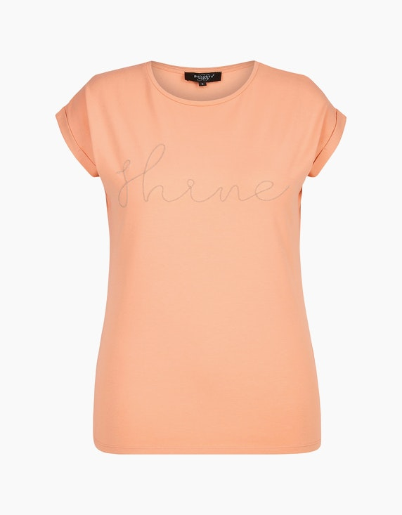 Bexleys woman Kurzarmshirt mit verzierter Front in Rose   ADLER Mode Onlineshop