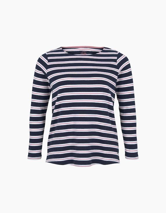 Tom Tailor Gestreiftes Langarmshirt aus Bio-Baumwolle | ADLER Mode Onlineshop